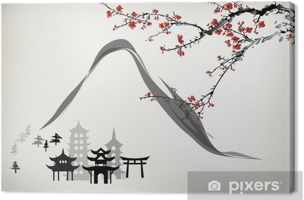mountain pavilion Canvas Print - Themes