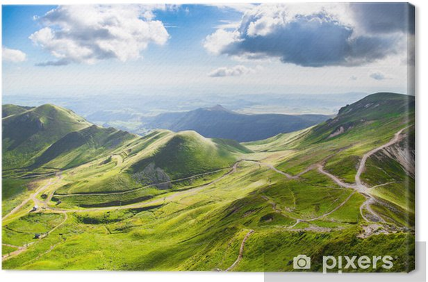 Mountains of Auvergne Canvas Print - Outdoor Sports