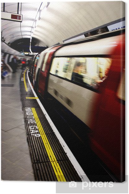 Moving Train Canvas Print - Themes