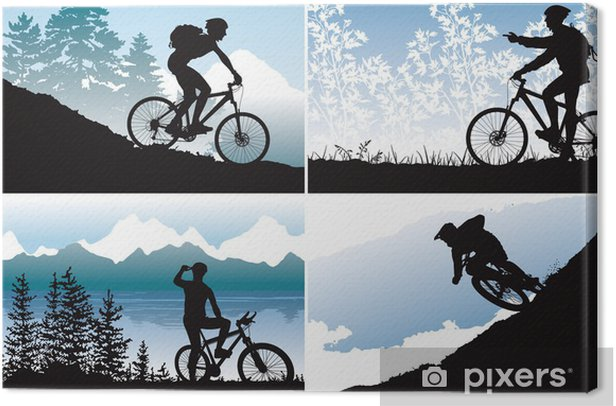 Mtb vector wallpapers Canvas Print - Outdoor Sports
