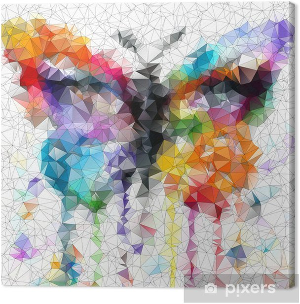 multicolor bright butterfly abstract geometric background Canvas Print - Styles