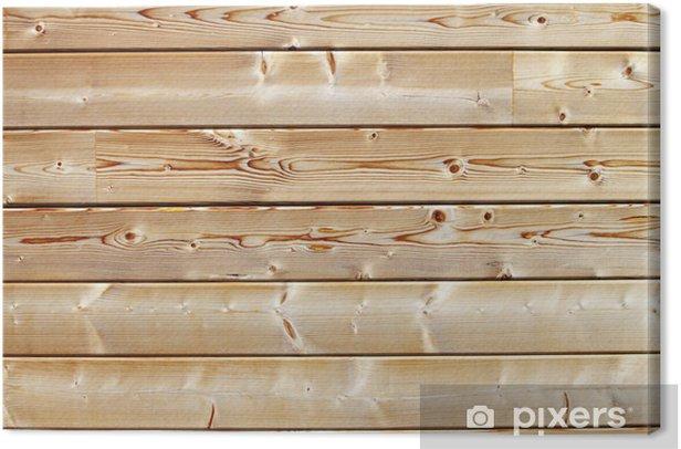 Mur de chalet en madriers de bois blanc Canvas Print - iStaging