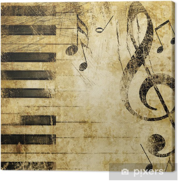 music grunge Canvas Print - Themes
