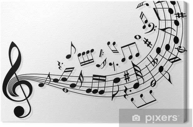 Music notes Canvas Print -