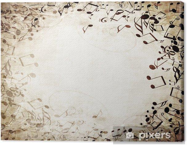 music sheet Canvas Print -