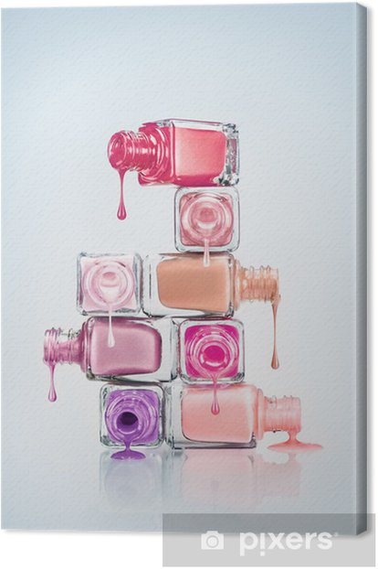 Nail Polish. Canvas Print - Destinations