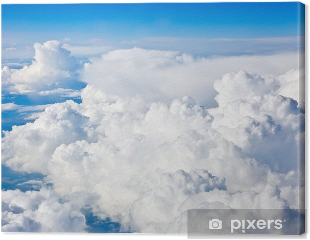 Natural background: cloudy sky Canvas Print - Skies