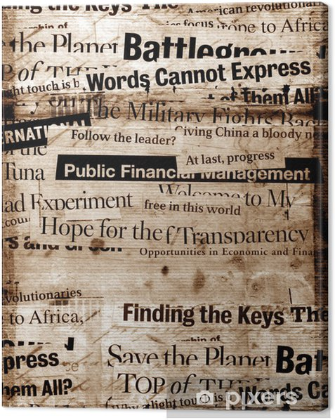 New paper headlines with old paper background Canvas Print - Styles