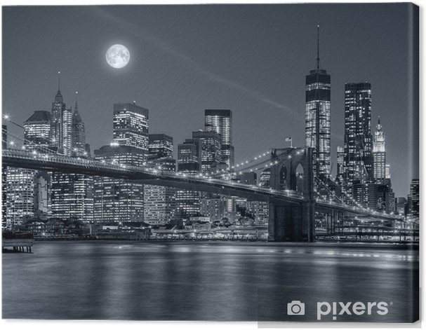 New York City at night Canvas Print - Travel