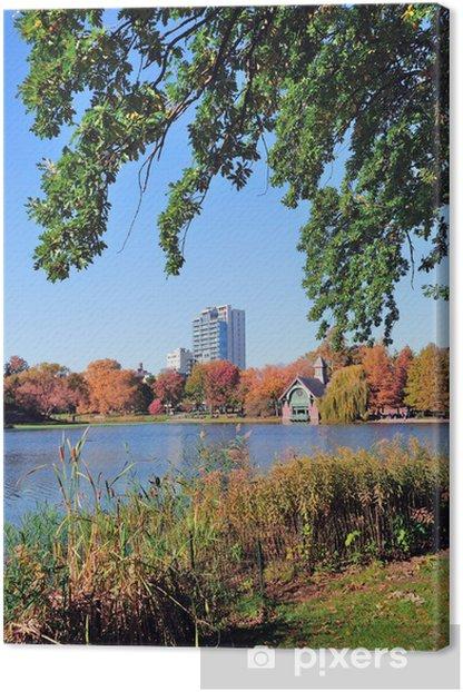 New York City Central Park Autumn Canvas Print - America