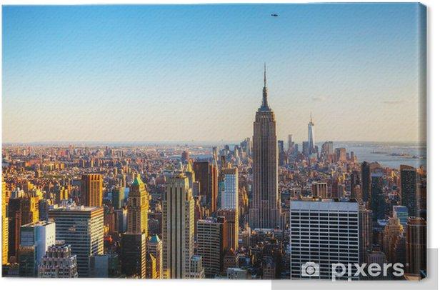 New York City cityscape Canvas Print -