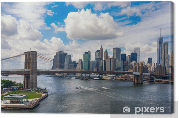 New York City in the glow of sunset Canvas Print -