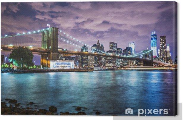 New York City lights Canvas Print - Themes