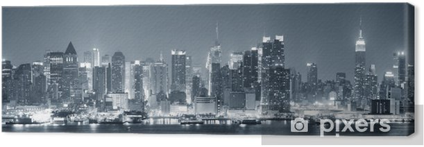 New York City Manhattan black and white Canvas Print - Themes