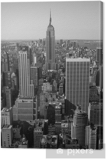 New York City Panorama black & white Canvas Print -