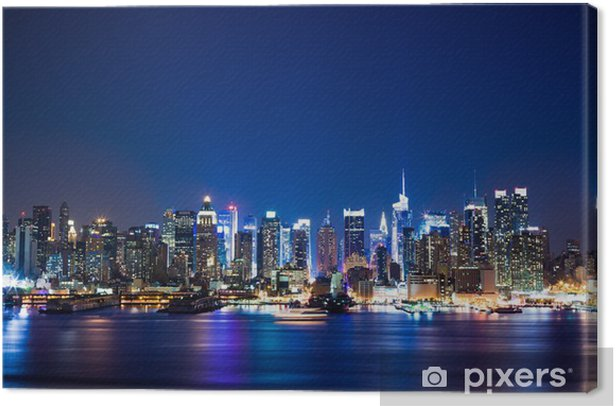 New York Manhattan skyline Canvas Print - Themes