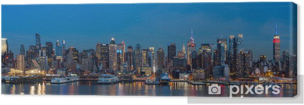 New York panorama on President's Day. Canvas Print - New York