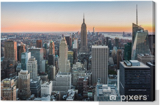 New York skyline at sunset Canvas Print -