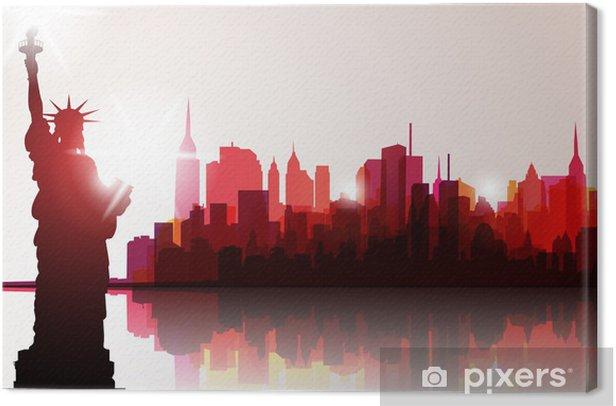 New York Skyline. Vector Illustration Canvas Print - Themes