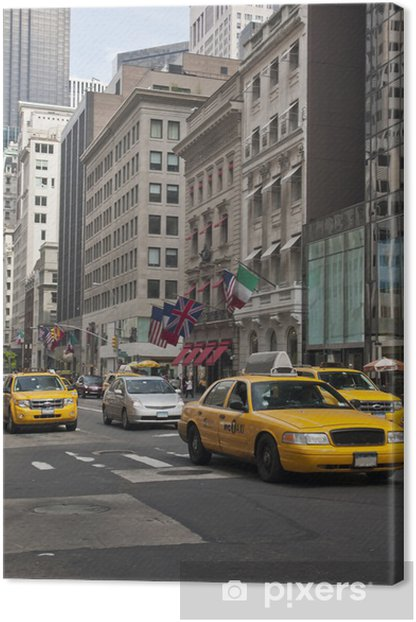 New York - Taxi Canvas Print - Themes