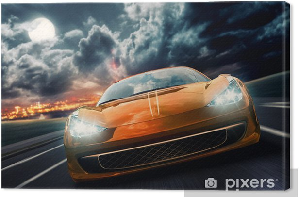 Night Drive Canvas Print -