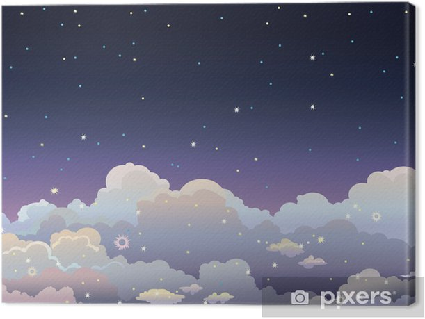 Night starry sky. Canvas Print - Skies