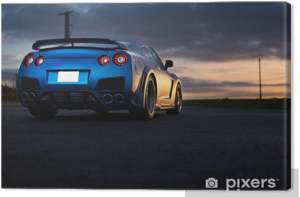 Nissan GTR Canvas Print - On the Road