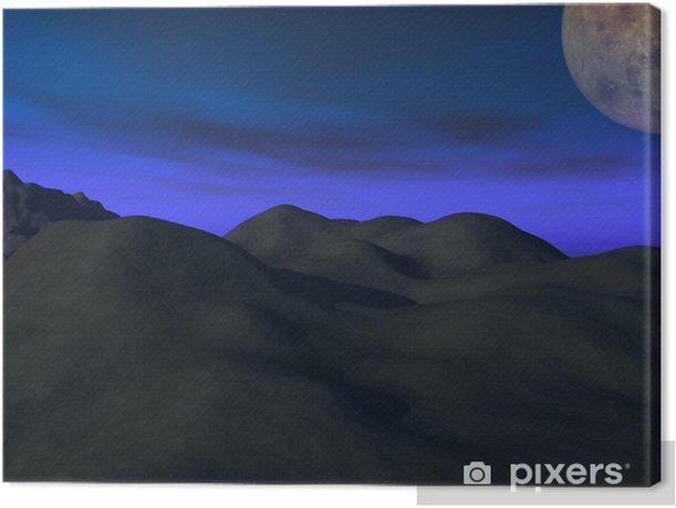 noche espacial Canvas Print - Other
