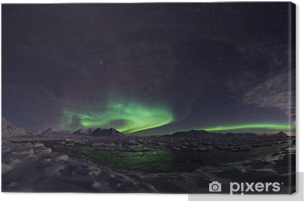 Northern Lights, Spitsbergen Canvas Print - Wonders of Nature