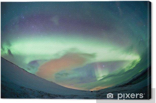 Northern Sweden - Northern Lights Aurora Canvas Print - Wonders of Nature