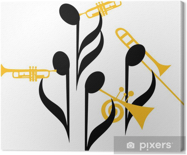 Notes Brass Band Canvas Print - Entertainment