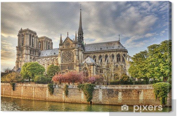 Notre Dame de Paris Cathedral Canvas Print -