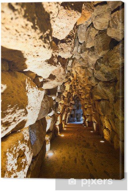 Nuraghe Santu Antine tunnel Canvas Print - Travel