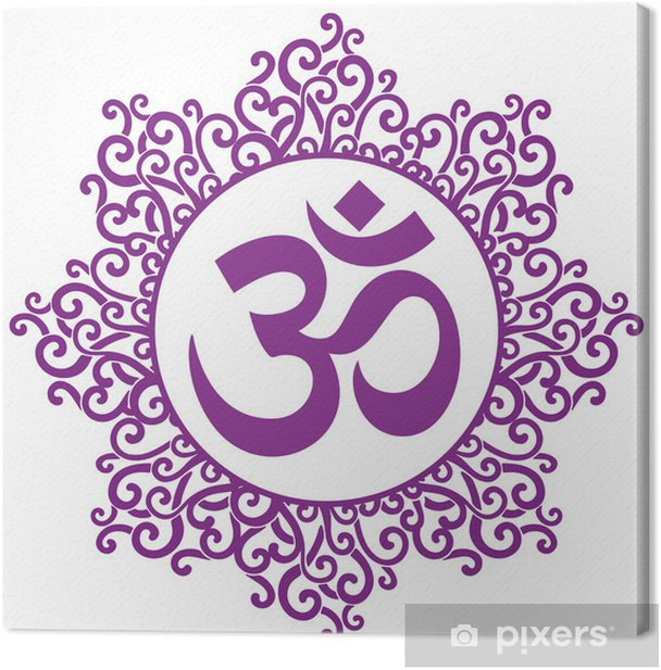 ohm decorative Canvas Print - Wall decals