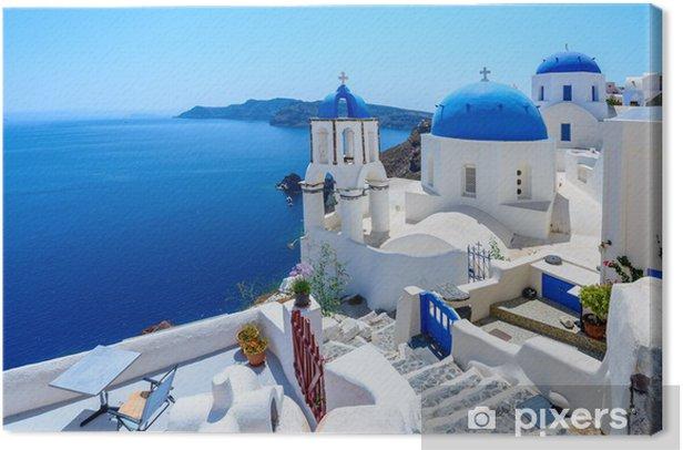 Oia, Santorini, Greece Canvas Print - Holidays