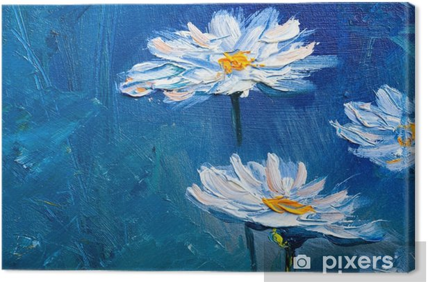 Oil painting Daisy flowers Canvas Print - Hobbies and Leisure