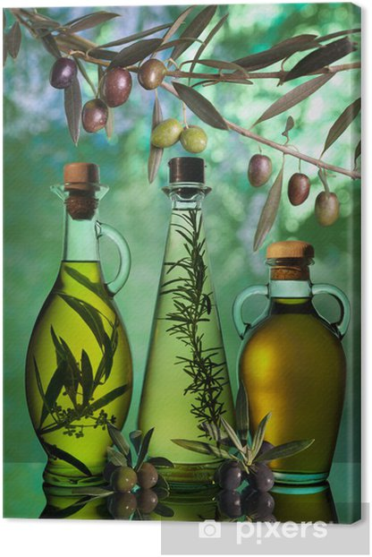 oil Canvas Print - Olives