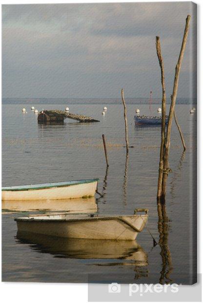 oiseaux et barques du Bassin d'Arcachon Canvas Print - Holidays