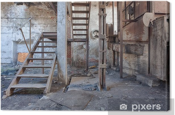 Old, abandoned and forgotten brick factory Canvas Print - Styles