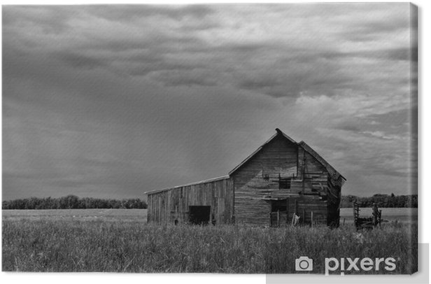 Old Barn Canvas Print - Countryside
