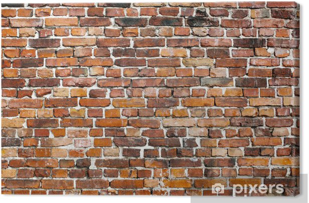 Old brick wall background Canvas Print - iStaging