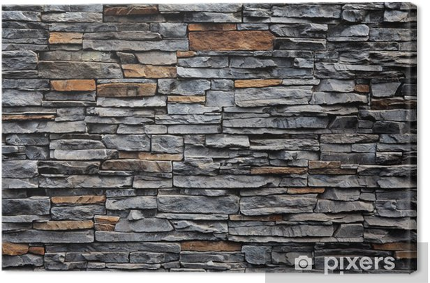 Old brick wall from a stone Canvas Print - Styles