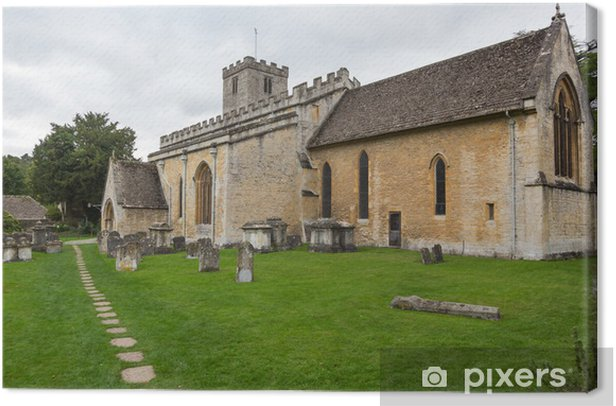 Old Church in Cotswold district of England Canvas Print - Europe