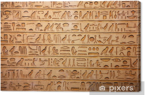 old egypt hieroglyphs Canvas Print - iStaging