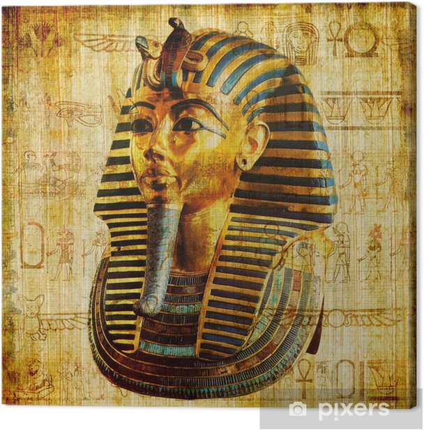 old egyptian papyrus Canvas Print - Raw Materials