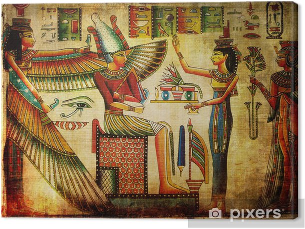 old egyptian papyrus Canvas Print - Art & lifestyle
