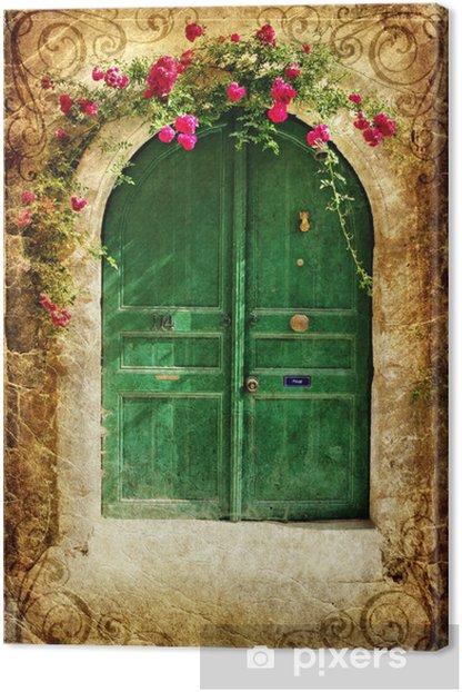 old greek doors - vintage series Canvas Print - Themes