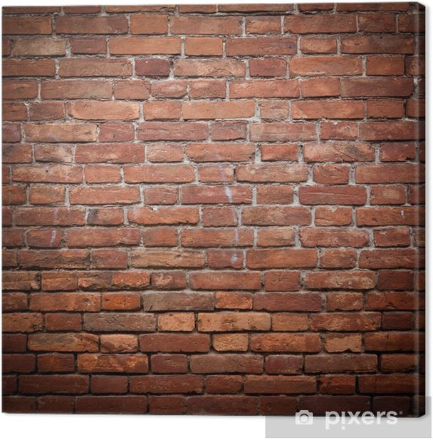 Old grunge red brick wall texture Canvas Print - Themes