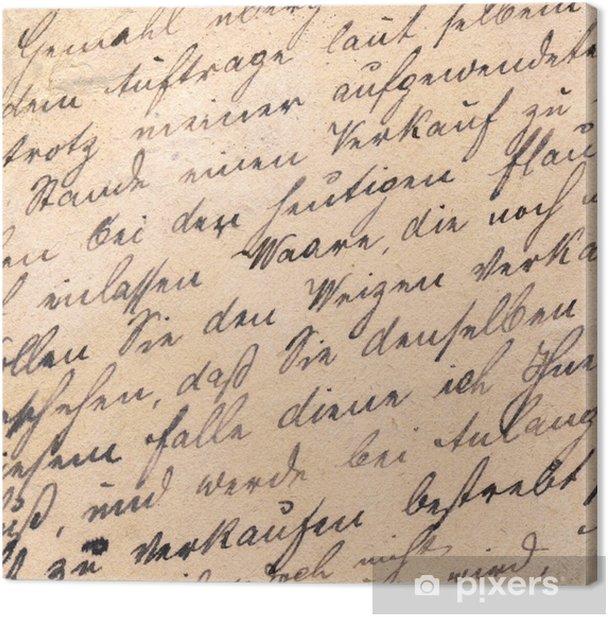 Old handwriting - circa 1881 Canvas Print - Signs and Symbols
