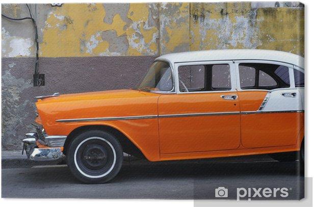 Old Havana vintage car Canvas Print - America